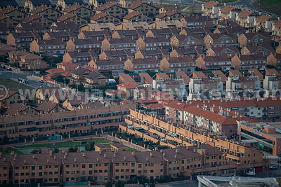 Aerial view of housing, Madrid, Spain