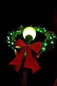 Christmas wreath on lamp post