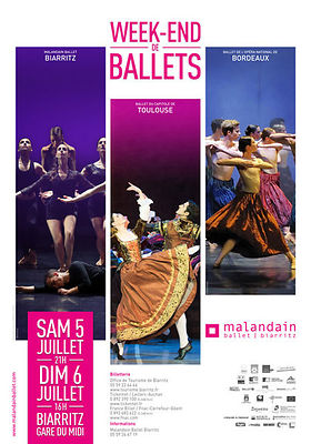 Affiche Week-end de ballets, Biarritz, juin 2014