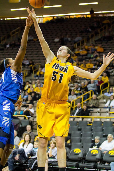 Middle Tennessee vs Iowa Womens Basketball, November 14, 2012