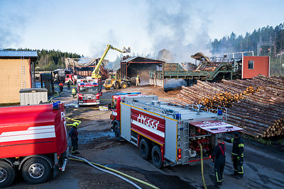 Fire at a sawmill in Herrala, Southern Finland, on May 23 2017.