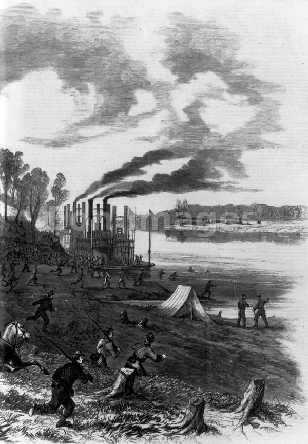 Scene at Pittsburg Landing-Battle of Shiloh