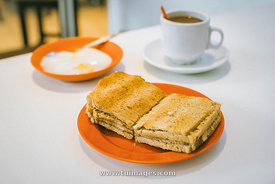 Kaya toast in Singapore