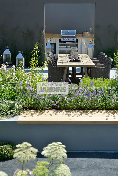 La phototh que les plus beaux jardins terrasse - Table de jardin contemporaine ...