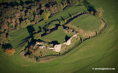 aerial photograph of  Chartley Castle Staffordshire  England UK
