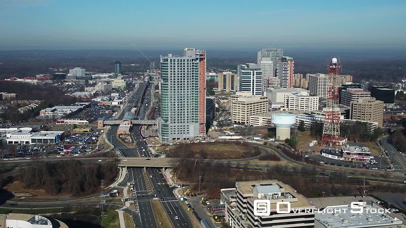 Tysons, Virginia, USA. Slow pan left to right from Leesburg Pike to the Galleria