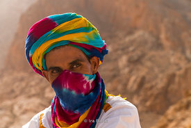 A local near Merzouga, Morocco