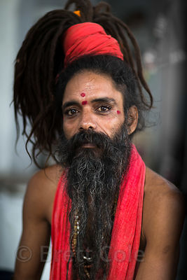 Sadhu with dreadlocks, Pushkar, Rajasthan, India