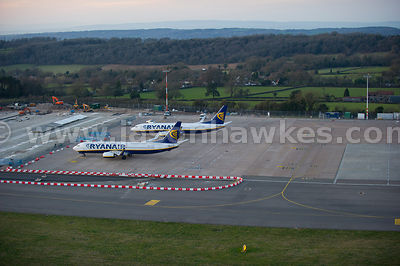 Aerial view of Bristol Airport