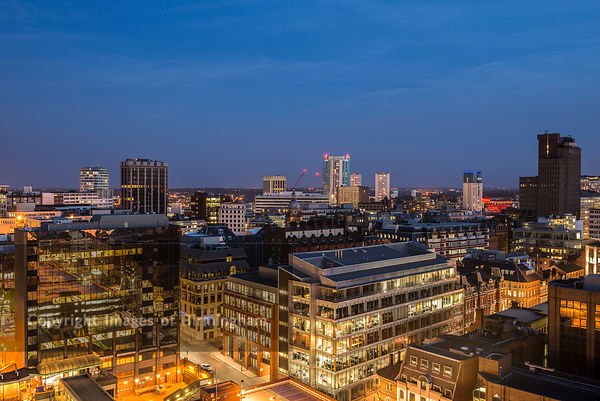 A view over Birmingham city centre, West Midlands, England, UK