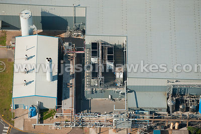 Aerial view of indutrial plant