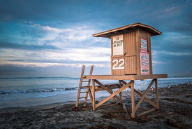 Newport Beach CA Lifeguard Tower 22 Photo