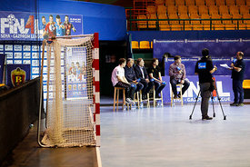 during the Final Tournament - Final Four - SEHA - Gazprom league, Handball discussion in Brest, Belarus, 06.04.2017, Mandatory Credit ©SEHA/ Uros Hočevar