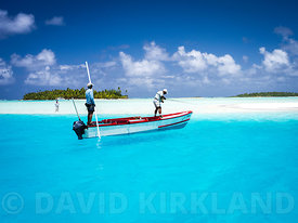 Bone Fishing, Aitutaki, Cook Islands