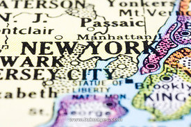 new york on map