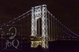 George Washington Bridge Lit Up, Close-2