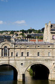 Pulteney Bridge and River Avon, Bath, Somerser, England, UK.