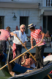 Gondoliers on the Grand Canal Venice