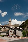 Lanslebourg mont - cenis village in the French Alps