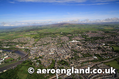 aerial photograph of Lancaster Lancashire England