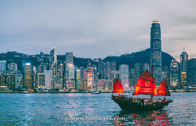 Hong Kong Victoria harbour junk cruise
