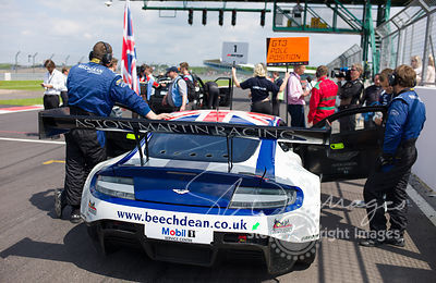 Beechdean Aston Martin Racing in pole position on the start grid at the Silverstone 500 - the third round of the British GT Championship 2014 - 1st June 2014
