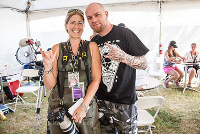 Ivan Moody of FFDP (Five Finger Death Punch) and Alison Toon of Toon's Tunes