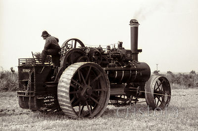 McLaren ploughing engine at the St Agnes West of England Steam Fair