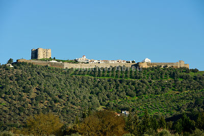 The 12th century medieval castle of Evoramonte. Alentejo, Portugal