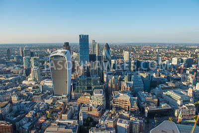 The skyscrapers of the City of London