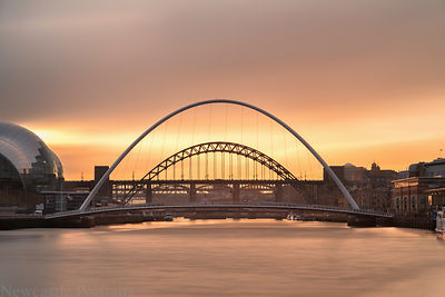 Long exposure on the Tyne at Sunset