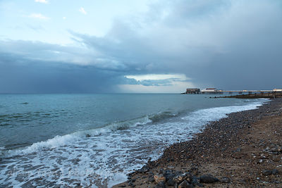 Cromer Pier on a stormy summer evening