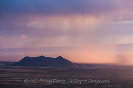 Storm Clouds and Rain over Tularosa Basin Viewed from Aguirre Spring Campground