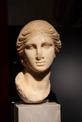 "Roman marble portrait of woman.. ""Portraits. The Many Faces of Power"" Exhibition"