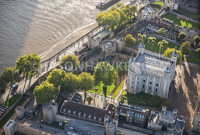 Aerial view of the Tower of London, Tower Hill, London