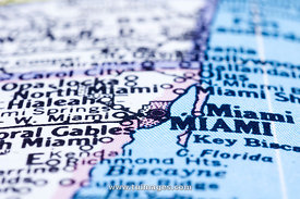 Miami on map