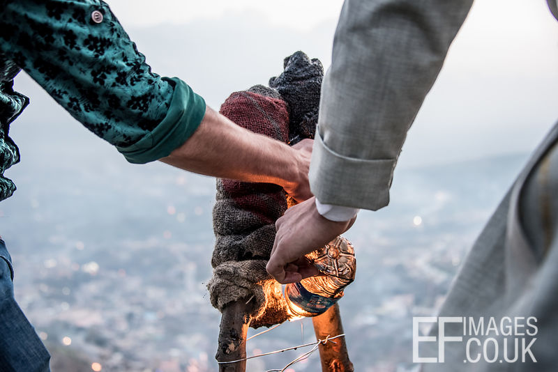 Lighting Newroz Torches In Akre