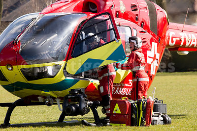 The Thames Valley Air Ambulance Medical Team Unload their Kit on a Mission