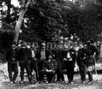 Baldy Smith and staff near Malvern Hill