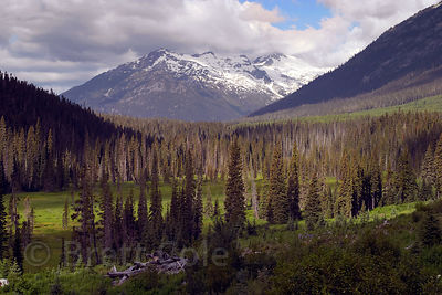 The wild high country of the Lilloett Valley, British Columbia.