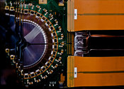 VELO modules in the LHCb detector at CERN