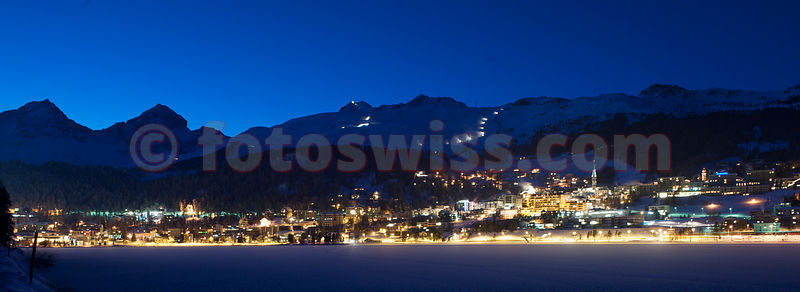 St.Moritz City Winter Night photos