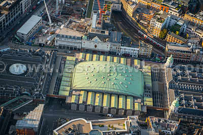Aerial view of Farringdon, London