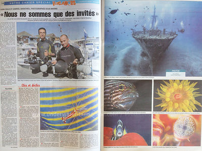 Article du Quotidien du 16 Juillet 2015 Photos sous marines