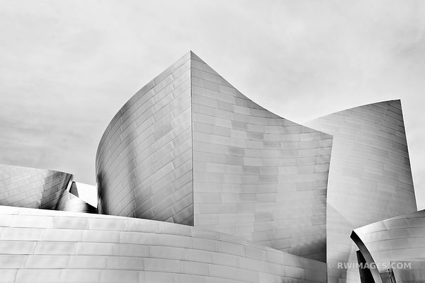 WALT DISNEY CONCERT HALL DOWNTOWN LOS ANGELES BLACK AND WHITE