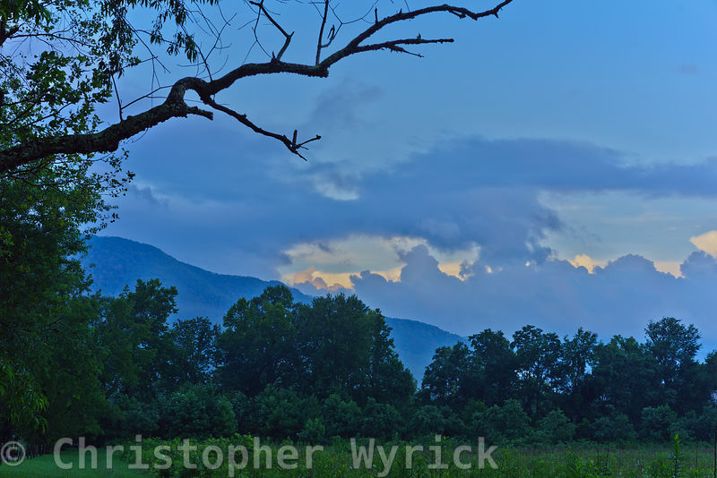 The fields of Cades Cove offer a glimpse back in time to how the area may have appeared one hundred or even two hundred years ago.  Nestled between the main chain of the appalachian mountains to the south and Rich mountain to the north, the cove feels isolated and protected from the modern world.