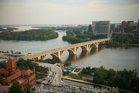 Aerial Photograph of Key Bridge