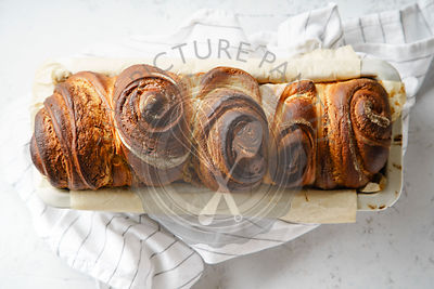 Swirl bread loaf with cocoa
