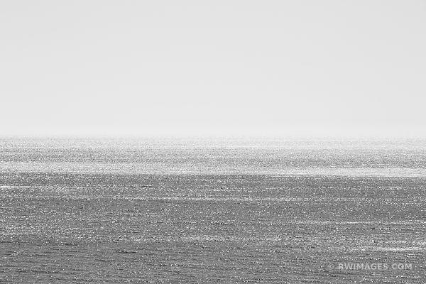 PACIFIC OCEAN SANTA BARBARA CALIFORNIA BLACK AND WHITE