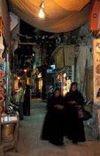 Sharia as-Souq at night, market, Aswan, Egypt